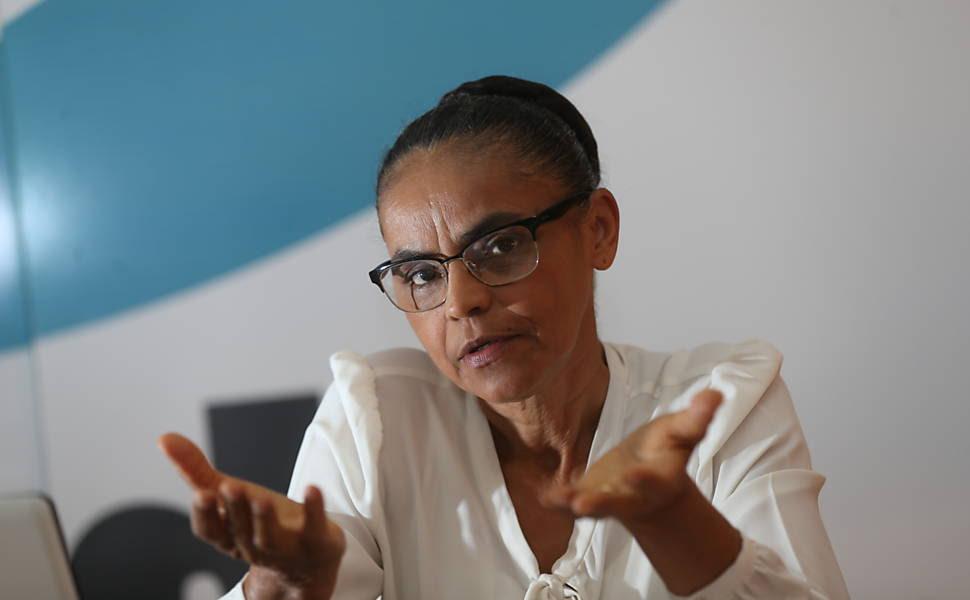 A ex-senadora Marina Silva (Rede)