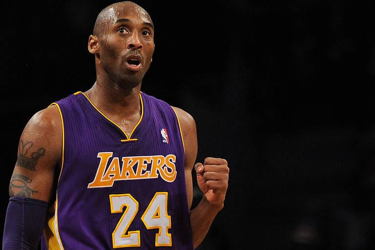 Kobe Bryant durante partida do Los Angeles Lakers em 2013
