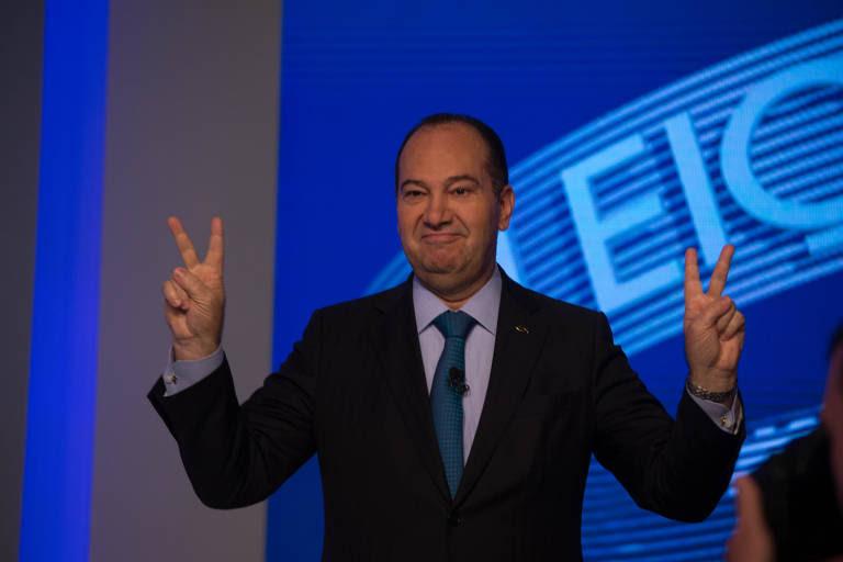 Everaldo Pereira (PSC), o Pastor Everaldo, em debate nas eleições de 2018